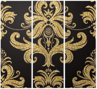 Tryptyk Złoty kwiatu tapety