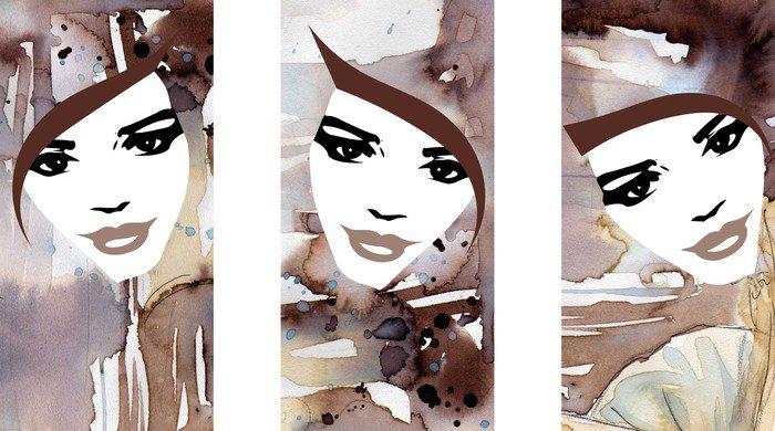 Obraz na Płótnie Trzy portrety kobiet - Kobiety