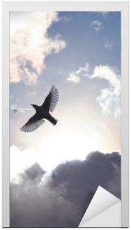 Türaufkleber Engels-Vogel im Himmel