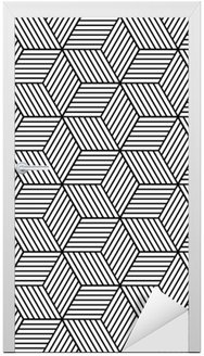 Türaufkleber Nahtlose geometrische Muster mit Würfeln.