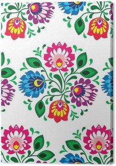Tuval Baskı Beyaz üzerine Polonya dikişsiz geleneksel floral pattern