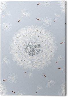 Tuval Baskı Çiçek karahindiba ile sorunsuz desen gri