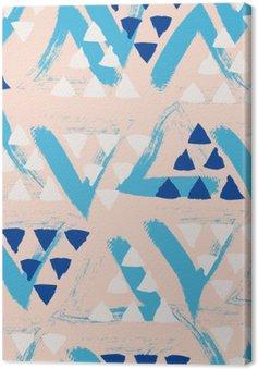Tuval Baskı Dikişsiz elle çizilmiş desen