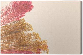 Tuval Baskı Elle boyanmış dekoratif küçük çiçekler. metin için tasarımcı, yer yer