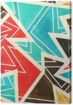 Tuval Baskı Grunge etkisi ile gençlik geometrik seamless pattern