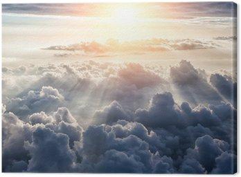 Tuval Baskı Güzel mavi gök arka plan