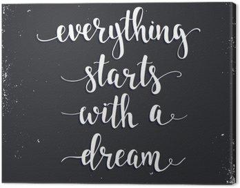 Tuval Baskı Her şey bir rüya ile başlar.