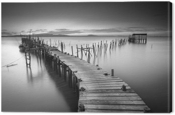 Tuval Baskı Huzurlu eski iskele