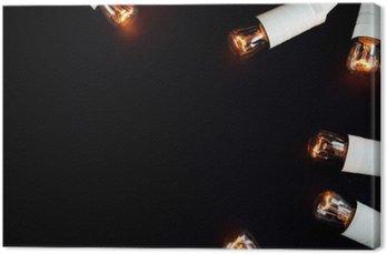 Tuval Baskı Inanılmaz güzel eşsiz yılbaşı altın bağbozumu çelenk ışıklar