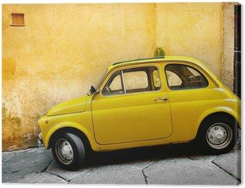 Tuval Baskı İtalyan eski araba