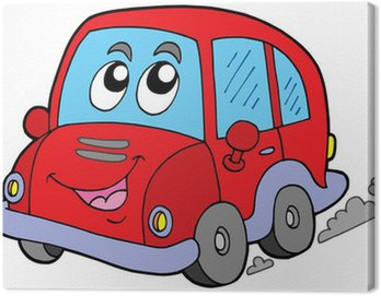 Tuval Baskı Karikatür araba