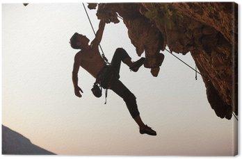 Tuval Baskı Kaya tırmanıcısı