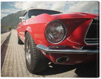 Tuval Baskı Klasik Muscle Car