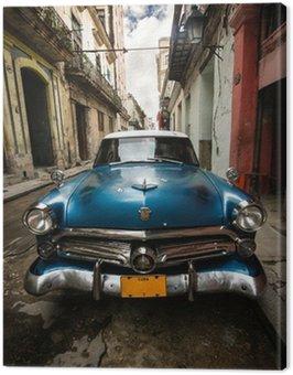 Tuval Baskı Küba Vintage