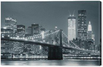 Tuval Baskı New York Brooklyn Köprüsü