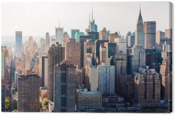 Tuval Baskı New York silüeti havadan görünüşü