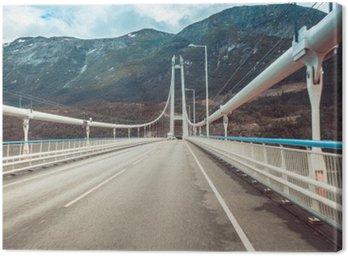 Tuval Baskı Norveç asma köprü