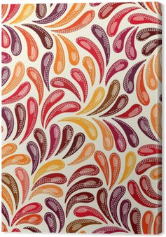 Tuval Baskı Özet renkli desen