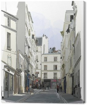 Tuval Baskı Paris'in Montmartre yakın sokak