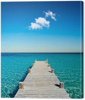 Tuval Baskı Plage vacances ponton bois