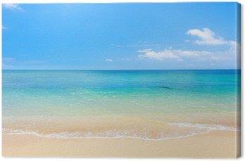 Tuval Baskı Plaj ve tropikal deniz
