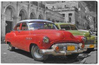 Tuval Baskı Renkli Havana arabalar panorama