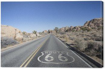Tuval Baskı Route 66 Sign ile Karayolları Joshua Tree Desert