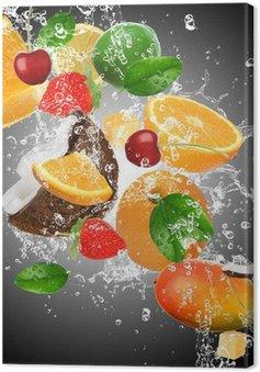 Tuval Baskı Su sıçramasına ile meyve