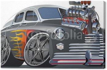 Tuval Baskı Vektör karikatür sıcak çubuk (motor tam komple).