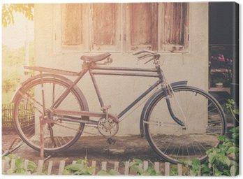 Tuval Baskı Vintage bisiklet veya eski duvar ev eski bisiklet bağbozumu parkı.