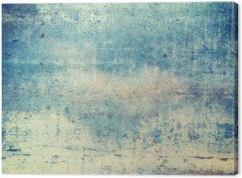 Tuval Baskı Yatay yönelimli mavi renkli grunge background