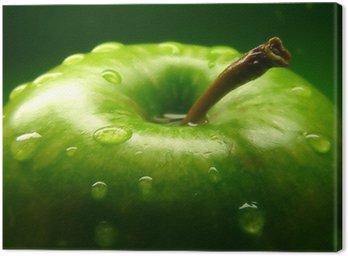 Tuval Baskı Yeşil Elma