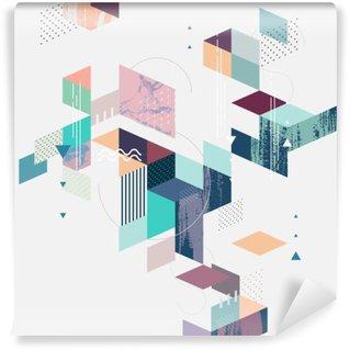Tvättbar Fototapet Abstrakt modern geometrisk bakgrund