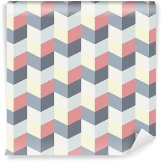 Tvättbar Fototapet Abstrakt retro geometriskt mönster