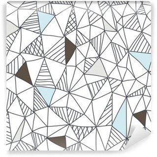 Tvättbar Fototapet Abstrakt sömlösa klotter mönster