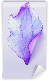 Tvättbar Fototapet Akvarell inslag blomma kronblad