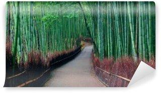 Tvättbar Fototapet Bambu lund