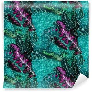 Tvättbar Fototapet Batik mönster
