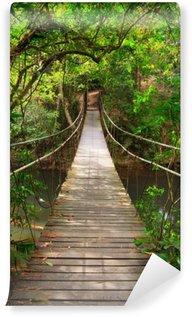 Tvättbar Fototapet Bro till djungeln, Khao Yai nationalpark, Thailand