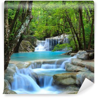 Tvättbar Fototapet Erawan Waterfall, Kanchanaburi, Thailand