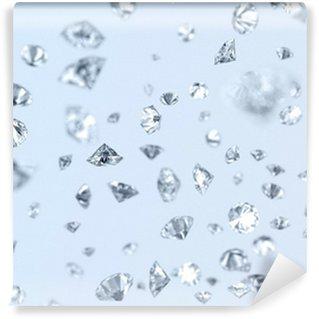 Tvättbar Fototapet Fallande diamanter