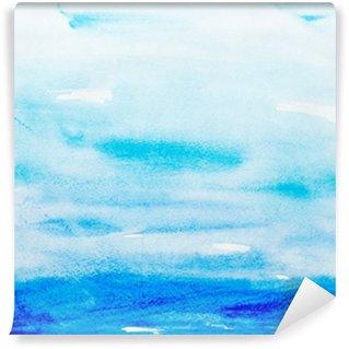 Tvättbar Fototapet Färg stroke akvarellmålning konst