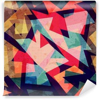 Tvättbar Fototapet Grunge geometriska sömlösa mönster