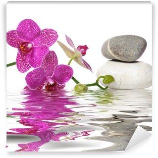Tvättbar Fototapet Helt enkelt vackra orkidéer