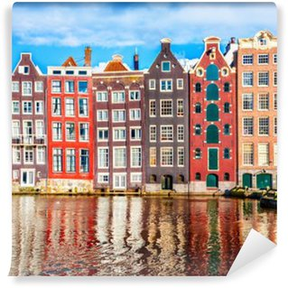 Tvättbar Fototapet Hus i Amsterdam