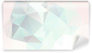 Tvättbar Fototapet Mjuk pastell abstrakt geometrisk bakgrund med övertoningar vektor