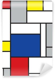 Tvättbar Fototapet Mondrian inspirerad konst