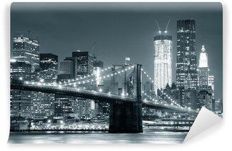 Tvättbar Fototapet New York Brooklyn Bridge