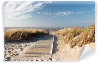 Tvättbar Fototapet Nordsee Strand auf Langeoog
