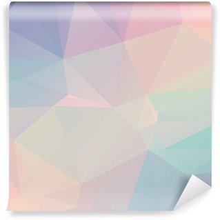 Tvättbar Fototapet Pastell Polygon geometriska